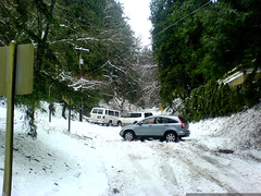 vehicles in various states of distress   two stuck a…