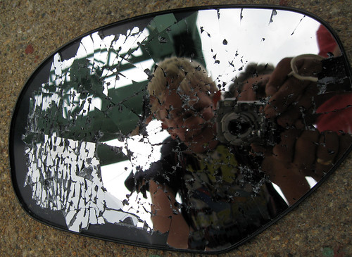 bridge reflection broken mirror sideviewmirror shattered cracked brokenmirror