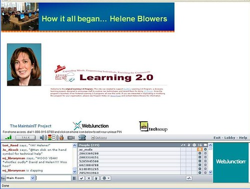 Helene Blowers, describing how 23 Things started