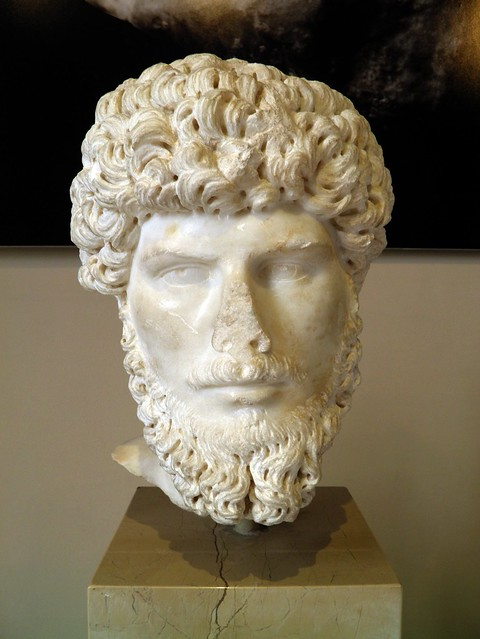 Head of the Emperor Lucius Verus (161 - 169 AD), Sculpture of Roman Period, Istanbul Archaeology Museum