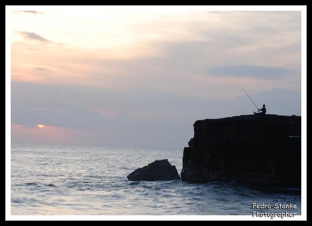 O solitário pescador - Bali, Indonesia