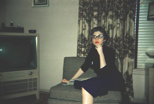1950's living room w big TV | Flickr - Photo Sharing!
