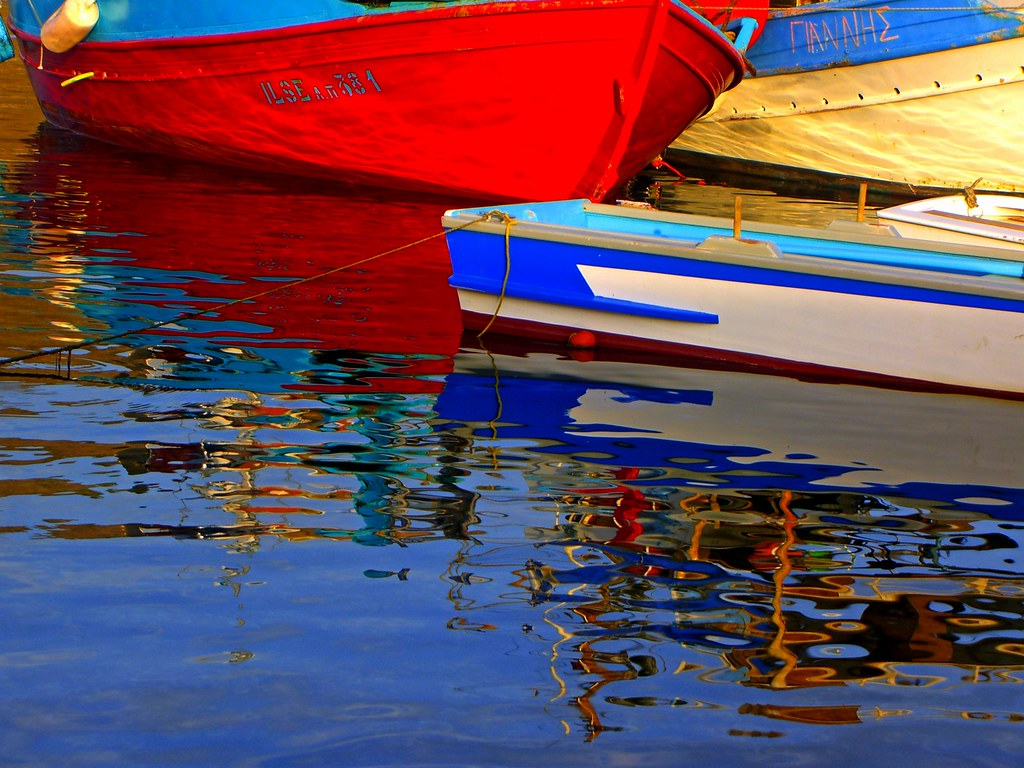 Boats and reflection