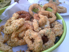 deep frying, panko, fried food, squid, onion ring, food, dish, cuisine, fast food,