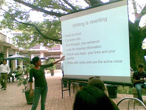 Angilee Shah on writing - BarCamp Phnom Penh