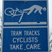 Cyclists take care