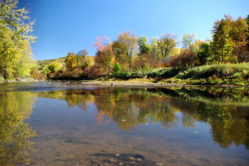 autumn reflection fall water river pennsylvania pa allegheny mckean eldred