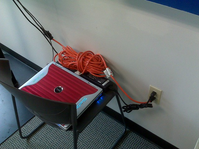 Bad Extension Cord : Too bad they couldn t find a long enough extension cord