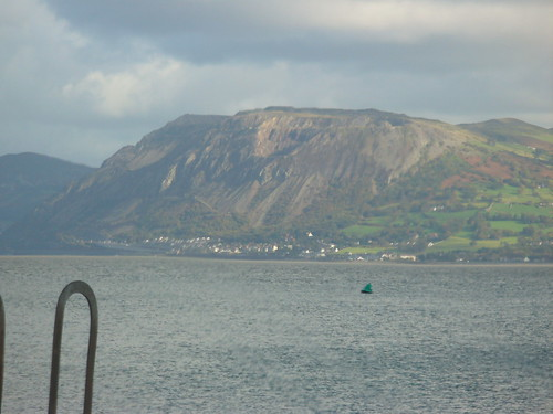 Penmaenmawr Quarry looking across from Beaumaris