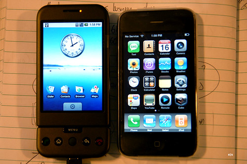 Android Developer Phone 1 and iPhone 3G
