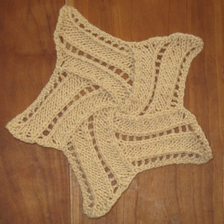 Entrelac Star with crocheted edging