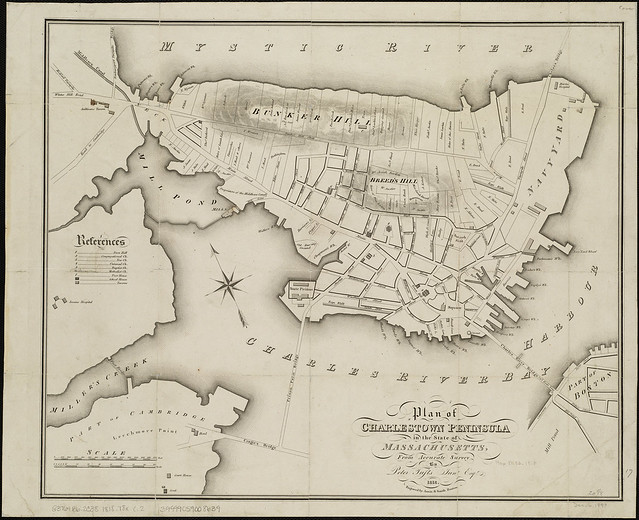 Plan Of Charlestown Peninsula In The State Of