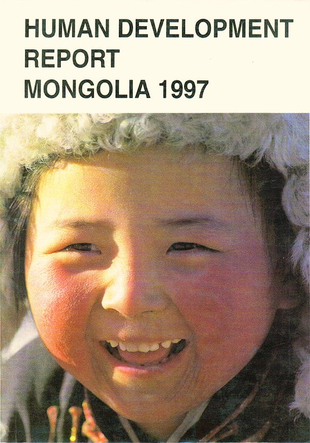 human development report mongolia 1997 cover and report