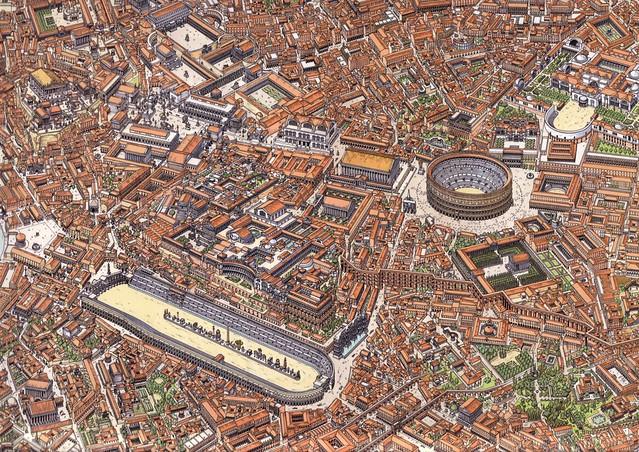 Superbe illustration de Rome d'une BD dont le nom m'échappe...