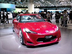 automobile(1.0), toyota 86(1.0), automotive exterior(1.0), exhibition(1.0), vehicle(1.0), performance car(1.0), automotive design(1.0), auto show(1.0), toyota ft-hs(1.0), concept car(1.0), land vehicle(1.0), supercar(1.0), sports car(1.0),