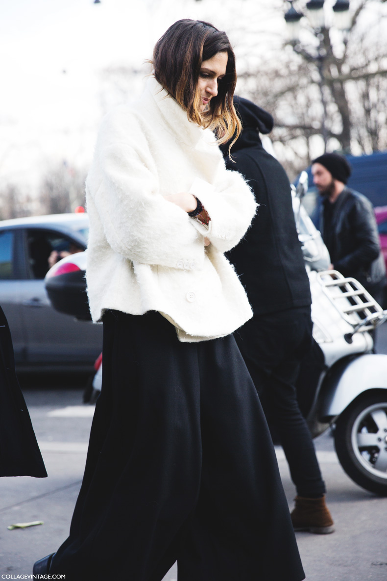 Paris_Fashion_Week_Fall_14-Street_Style-PFW-_Chanel-Black_And_White-Wide_Leg_Trousers-White_Coat-