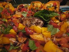 meal, salad, vegetable, meat, food, dish, cuisine, ratatouille,