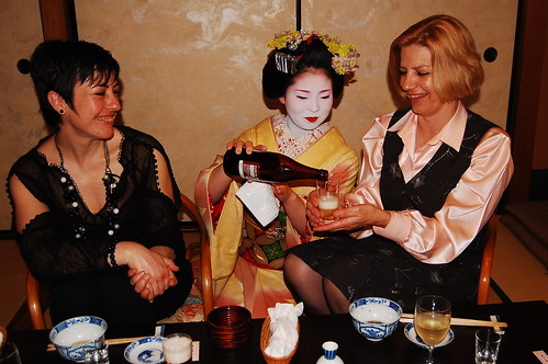 My mum and auntie with a Maiko in Gion