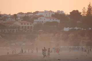 Dusty Beach At Dusk Armacao De Pera