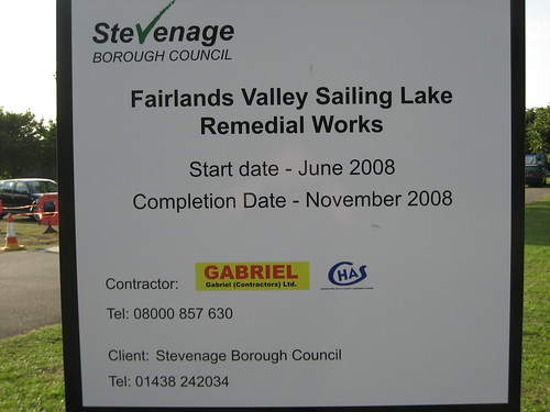 Stevenage Lakes Remedial Works - 01