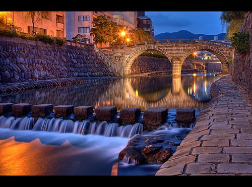 bridge sunset japan night canon view postcard spectacles nagasaki hdr bashi kyushu megane spectacle meganebashi 3xp australianphotographer 40d aplusphoto brisbanephotographer japanphotographer tokushimaphotographer goldcoastphotographer