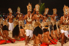 dancers, heiva festival at patio, tahaa