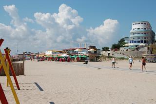 Image of  Plaja Eforie  near  Eforie Nord. birthday vacation seaside nikon