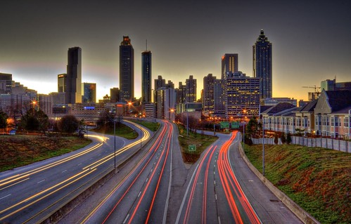 longexposure atlanta light sunset streets cars skyline buildings georgia highway exposure downtown atl trails lighttrails hdr skyrise