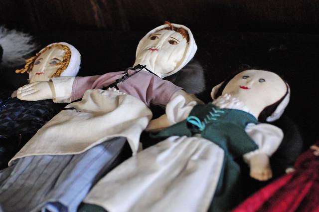 18th Century Georgian Childrens' Rag DollsToys at Clarke Hall Museum, Wakefield