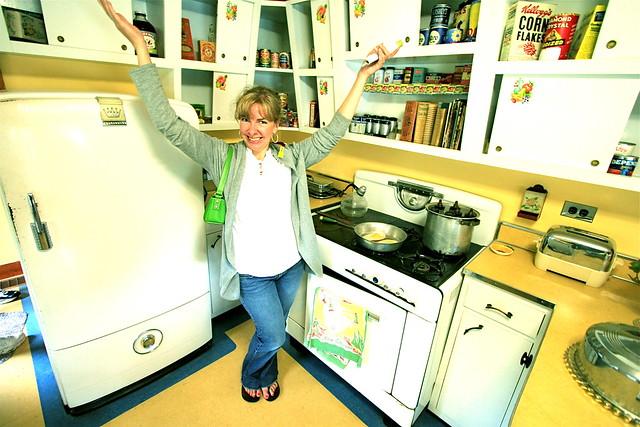 Sandee in 1950s Kitchen
