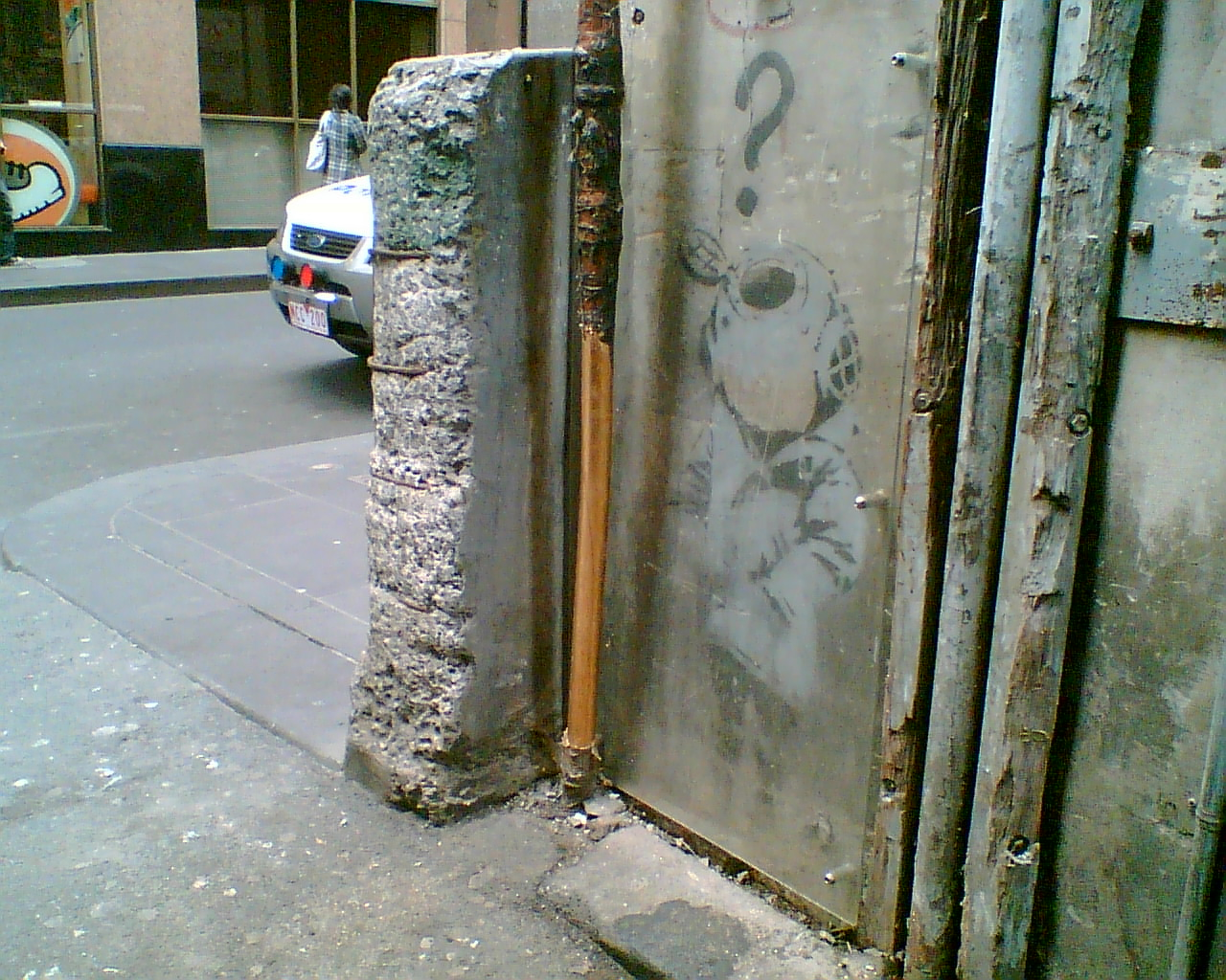 "Banksy ""Little Diver"" picture, Melbourne"