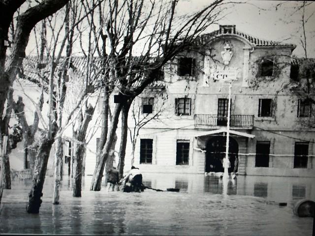 Inundación de 1947 en la Fábrica de Armas de Toledo, Edificio Sabatini