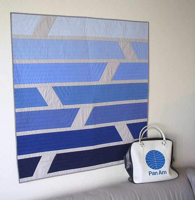 Fly by Night quilt with Pan Am bag