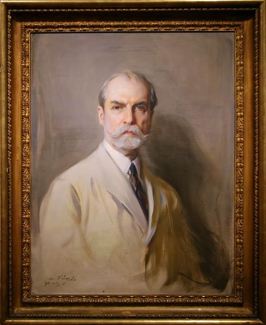 Charles Evans Hughes, 1921 by Philip Alexius de Laszlo, Oil on canvas