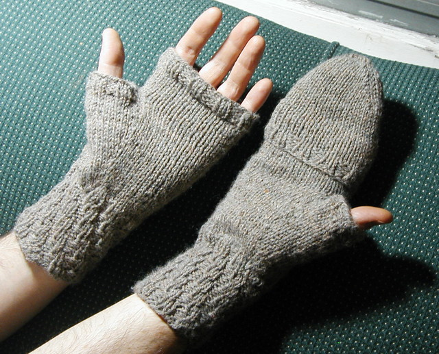 Knitting Pattern For Mittens With Flaps : photo