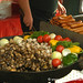 Grilled Mushrooms and Sausage - Berlin, Germany