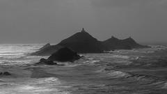 Iles Sanguinaires dans la tempête