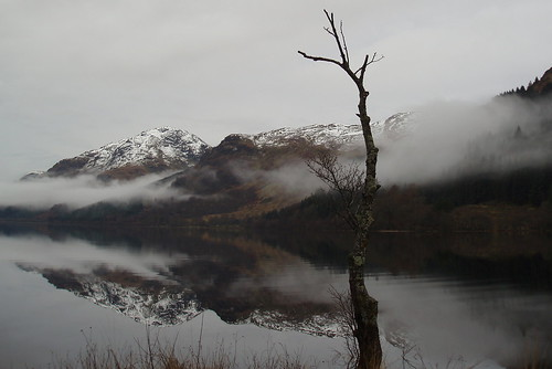 Loch Eck, Snow on The Hills by Joanna Paterson