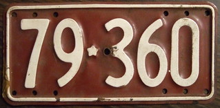 NEW ZEALAND 1956-61 Motorcycle plate