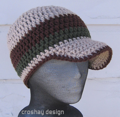 Crochet Brim Beanie Pattern Crochet For Beginners
