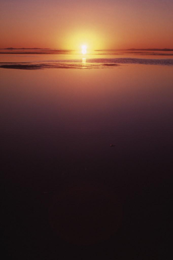 Sunset at great salt lake by mori_blur