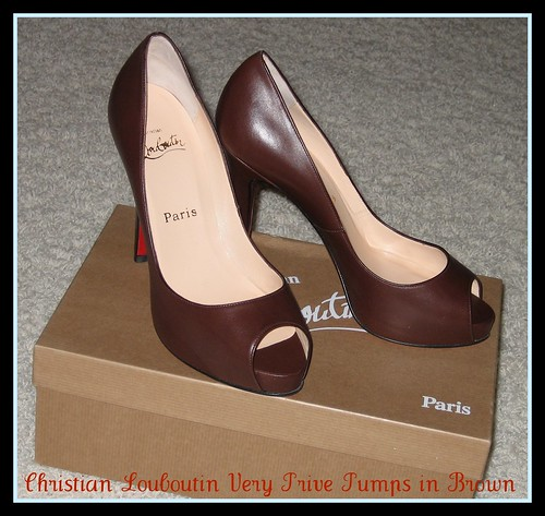 017a8a65530 Christian Louboutin Very Prive Platform Peep Toe Pumps in Brown by BunBun  in Wonderland Collections