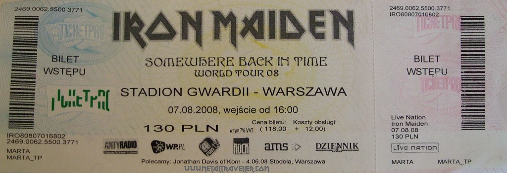 metal traveller iron maiden in warsaw poland august 7 2008. Black Bedroom Furniture Sets. Home Design Ideas