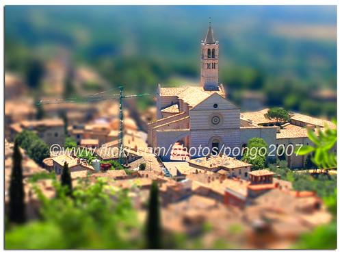 italy miniature bravo europe assisi umbria tiltshift schiara faketiltshift fakeminiature pongo2007