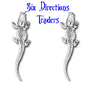 Sterling Silver Alligator Post Earrings