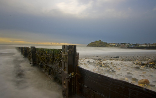 Groyne and castle