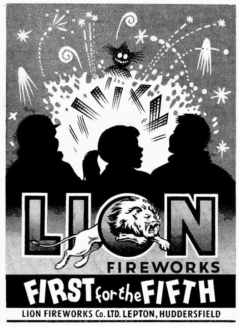 Lion Fireworks Poster