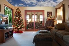 surreal living room