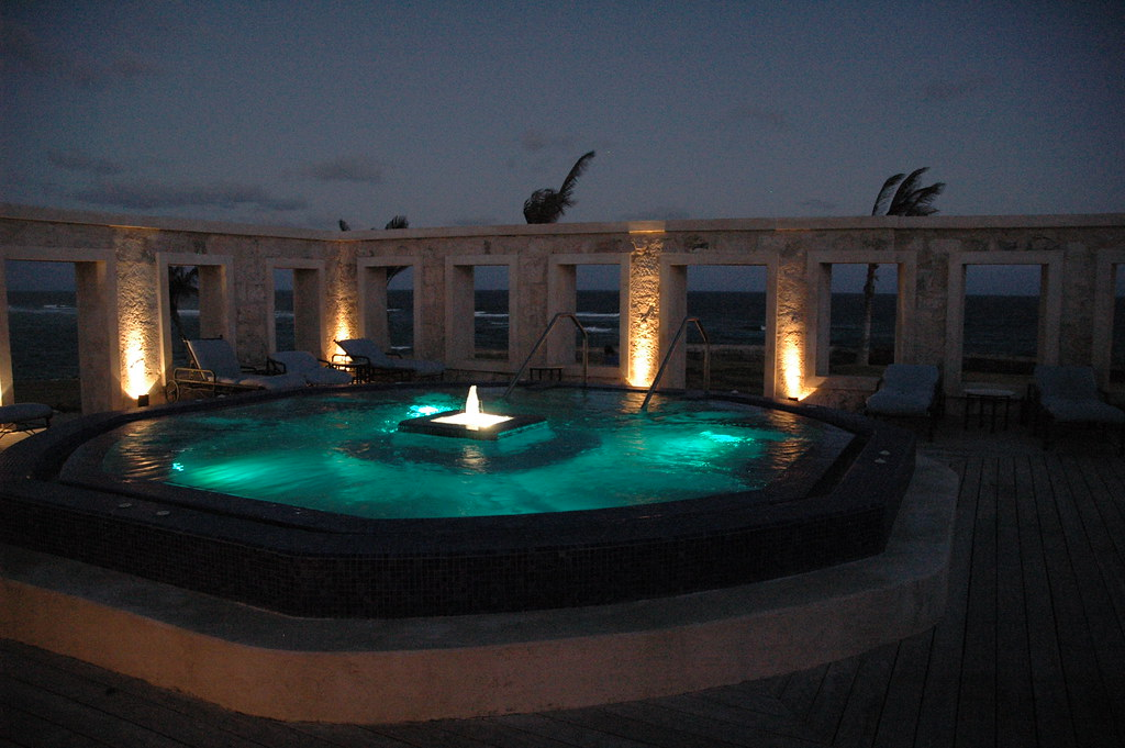 The outside jacuzzi