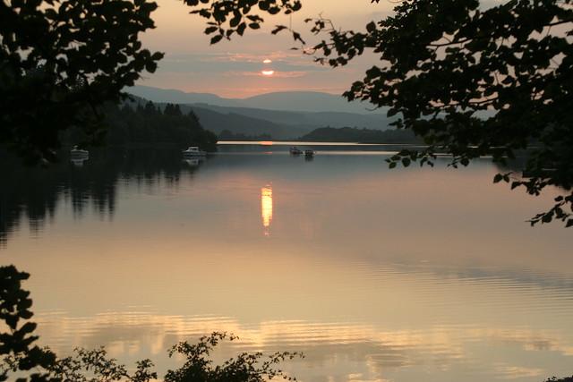 Boats before dusk at Loch Ken